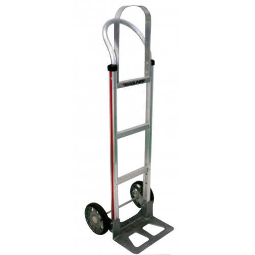 MAGLINER Aluminium Hand Truck with Rubber Wheels and Pram Handle with Frame Extension