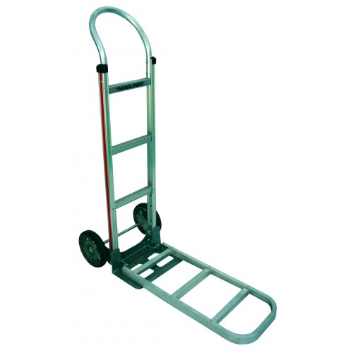 MAGLINER Aluminium Hand Truck with Rubber Wheels and Pram Handle with F3 Nose