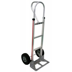 MAGLINER Aluminium Hand Truck with Pneumatic Wheels and Vertical Loop Handle
