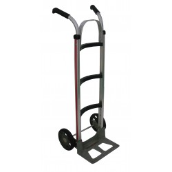 MAGLINER Aluminium Hand Truck with Rubber Wheels and Double Grip Handle