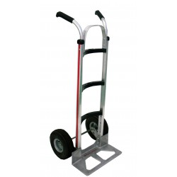 MAGLINER Aluminium Hand Truck with Pneumatic Wheels and Double Grip Handle