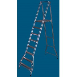 Allweld Aluminium Platform Ladder 2.18m