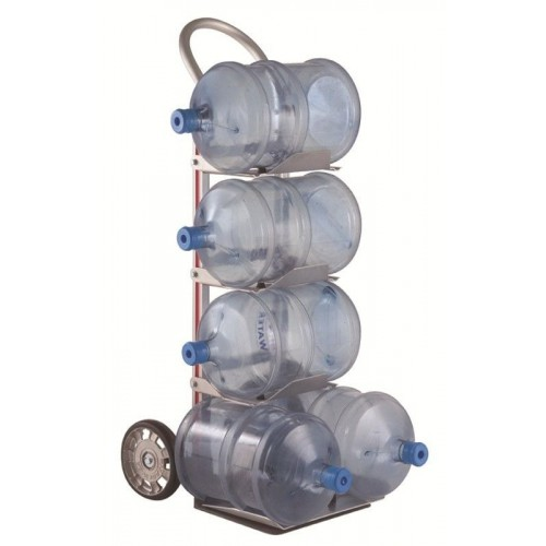 Magliner 5 Bottle Water Hand Truck with Rubber Wheels and Pram Handle