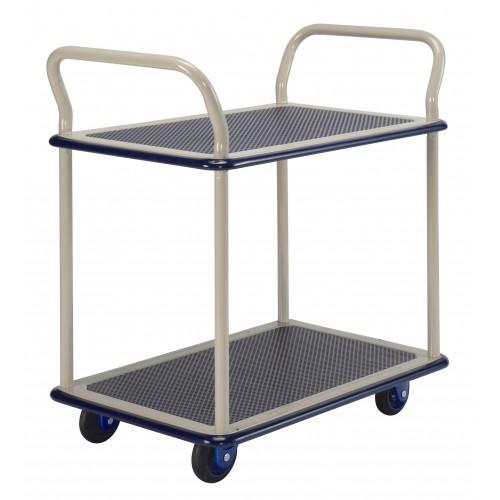 PRESTAR NB104 2 Tier Multi Deck Trolley Chrome Uprights 150 Kg