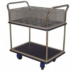 PRESTAR NFMAIL10 Mail Trolley - 10 Hole Basket