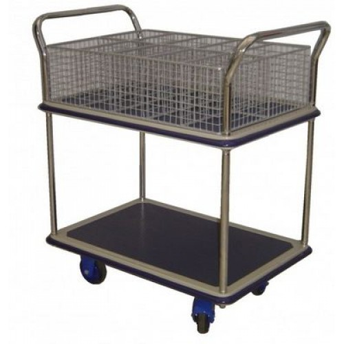 PRESTAR NFMAIL6 Mail Trolley - 6 Hole Basket