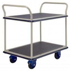 PRESTAR NF304 2 Tier Multi Deck Trolley Chrome Uprights 300 Kg