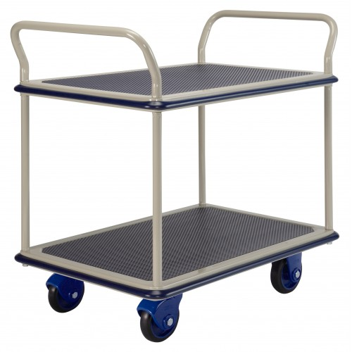 PRESTAR NF304 2 Tier Multi Deck Trolley Chrome Uprights 300 Kg