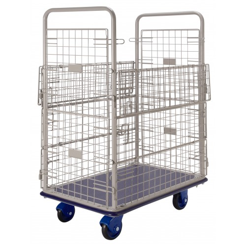 PRESTAR NF307WH Wire Mesh High Cage Trolley Steel Base 300 Kg