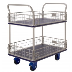 PRESTAR NF327 Multi Deck Trolley 2 Tier with Short Wire Sides 300 Kg