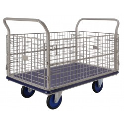 PRESTAR NG407 Cage Trolley Wire Mesh Sides 500 Kg, Steel Base