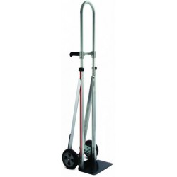 MAGLINER Aluminium Hand Truck with Rubber Wheels and Vertical Loop and Double Grip Handles