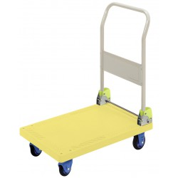 PRESTAR PFS301 Single Plastic Base Flat Bed Platform Trolley 300 Kg - 1 Folding Handle